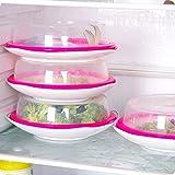 FERZA Home Piastra di Protezione per Alimenti a microonde Protezione per Splatter ventilata Coperchio per Cucina Trasparente Vent Sicuro (Trasparente) (Color : Clear)