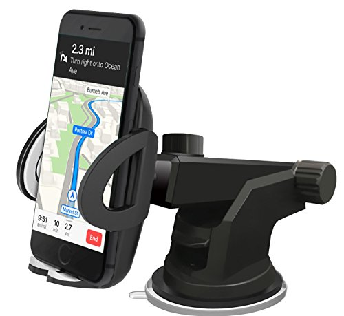 [Super Fest] iAmotus Handyhalterung Auto 360 °Rotatable Kfz Handy Halter Car Holder Unterstützung for Galaxy S8 S7 edge S6 Edge S5 iPhone X 7 6s 6 plus Smartphones Universal [Multifunktions] (3 Gps-mount Note)
