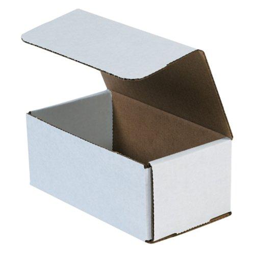 aviditi M743Wellpappe Versandbox, 17,8cm Länge x 10,2cm Breite x 7,6cm Höhe, Oyster Weiß (Bundle Of 50) (Wellpappe-versandboxen)