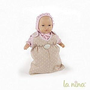 La Nina- Saco de Dormir pequeño Topo para muñecas, Color Beige, 19 x 24 cm (61607)