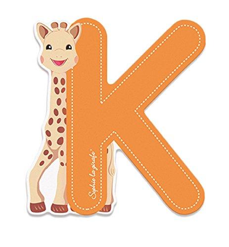 Preisvergleich Produktbild Janod Holzbuchstabe- Sofie die Giraffe Alphabet Namensbuchstaben K Kinderzimmer Deko, 6, 4 x 7cm, Orange