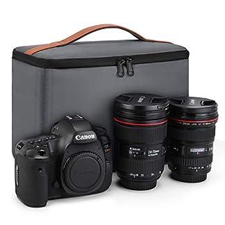 41eazUkU1GL. SS324  - Kattee. Funda Bolsa Protectora para Cámara DSLR y Accesorios para Canon Nikon Sony Fujifilm Olympus Panasonic