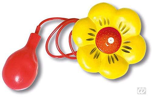 Horror-Shop Clown Spritzblume gelb als Kostümzubehör und Scherzartikel