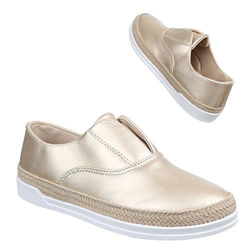 Ital-Design Pantofole Donna Gold