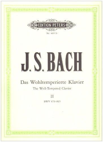 Clavier Bien Tempéré Volume 2 Bwv870-893-Urtext ...
