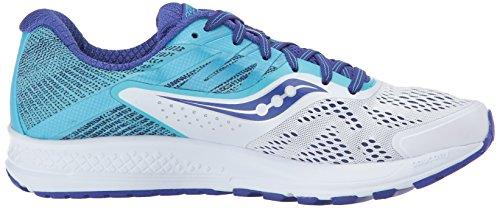 Saucony Ride 10 Chaussures De Course Blanches / Bleues