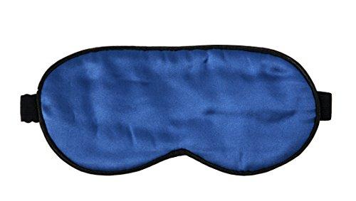 NOVAGO® 100% Seta Mascherina per dormire - modello di bambini (Blu)