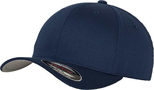 Sportliches Baseball Cap (Flexfit Wooly Combed, navy, S/M)