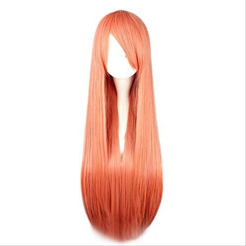 Mhsm Perücke, 15 Farben, 80 cm, lang, glatt, für Cosplay-Kostüme/Kostüme, Kunsthaar, 38 cm #35 (Hermine Kostüm Haar)