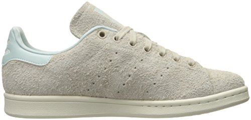 Adidas Womens Stan Smith Leather Trainers Clear/Brown/Clear/Brown/Vapour Green Fabric