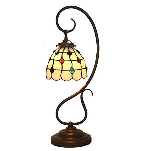 40w Nacht Licht (Tiffany Style Table Lampe, romantisch, Phoenix tail gesteine Glastisch Lichter, Retro Living Room, Schlafzimmer Dekoration Nacht Licht 40W)