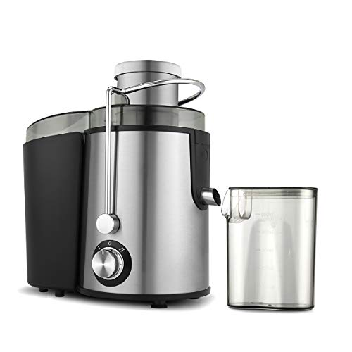 Molife Stainless Steel Centrifugal Juicer (Xtractor) 600 W Dual Lock and Two Speed knob | Multipurpose Fruit and Vegetable Juice | Separate Juice and Pulp Container | Stainless Steel juicer mesh