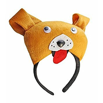 Für Hündchen Erwachsene Kostüm - Hund Kopfband - TOOGOO(R)3D Hund Huendchen Kopfband Tier Bauernhof Erwachsene Kinder Kostuem Maske