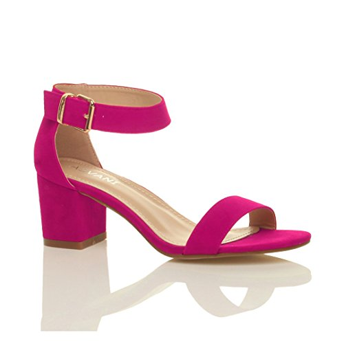 womens-ladies-mid-heel-peep-toe-buckle-ankle-strap-party-strappy-sandal-size-7-40