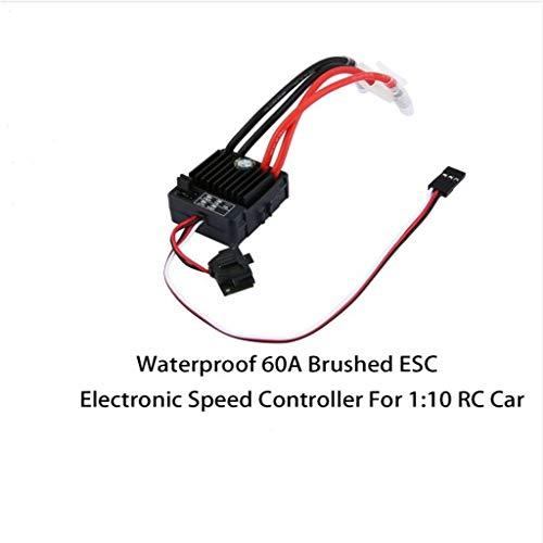 Webla Wasserdichte 60A Esc Gebürstet Für Auto 1 / 10RC Wasserdichte 60A Esc Controller Gebürstet Elektronische Geschwindigkeit Für Auto 1/10 Rc