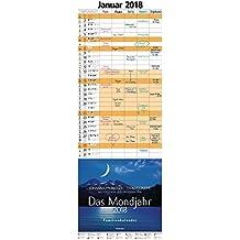 Das Mondjahr 2018: Familienkalender - Mit Fotos von Gerhard Eisenschink - Das Original