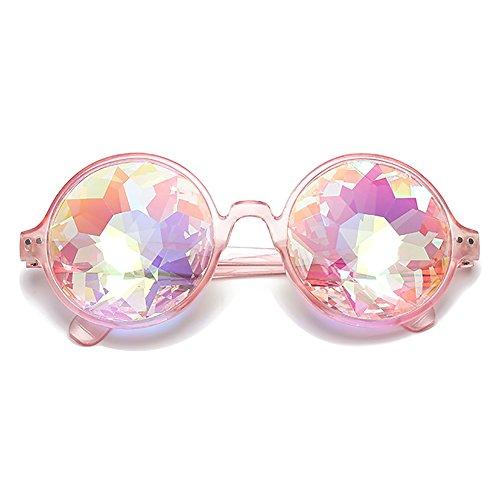SHEEN KELLY Kaleidoskop-Brille Abschlussball Facet Sonnenbrille Mosaik-Brillen Musik festival Rosa