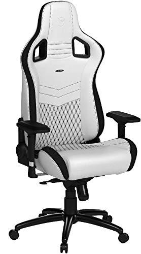 noblechairs EPIC Gaming Stuhl - Bürostuhl - Schreibtischstuhl - PU-Kunstleder - Weiß/Schwarz
