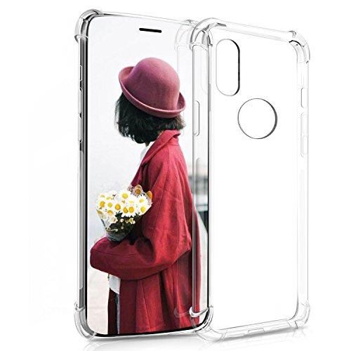 Coque iPhone X, KuGi Ultra Mince Premium TPU Silicone coque Exact Fit Premium coque pour iPhone X Etui TPU Silicone Transparent Transparent