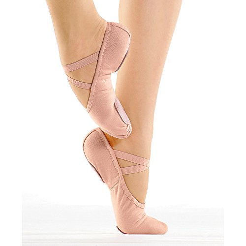 So Danca Professional-Ballettschläppchen, Weite C, Leinen CK pink