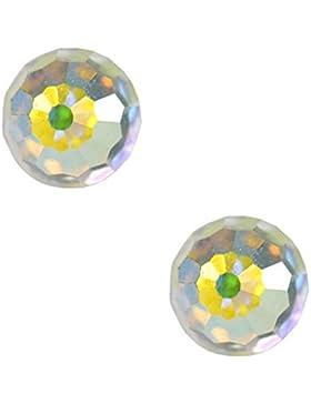 Studex Tiny Tips Ohrstecker für Kinder, Hypoallergen, Edelstahl, 4mm AB-Kristall