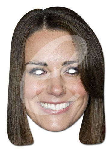 empireposter Kate Middleton Prominentenmaske, Papp Maske, aus hochwertigem Glanzkarton mit Augenlöchern, Gummiband - Grösse ca. 30x21 cm (Kate Middleton Kostüm)