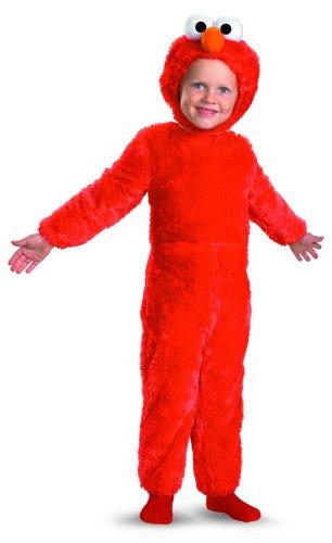 e Street Elmo Comfy Pelz Kost-m Kleinkind 2T (Sesame Street Halloween Kostüme)