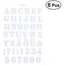BESTONZON 6 Unids Cake Stencils Letras del Alfabeto Spray Stencils Molde de La Torta Que Adorna