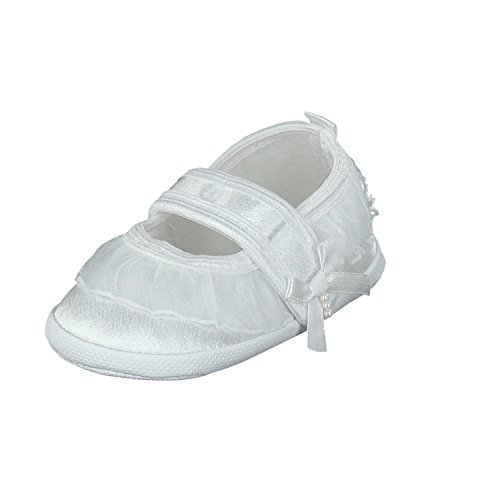 pantau.eu Taufschuhe Babyschuhe Lauflernschuhe Kinderschuhe Babyschühchen Krabbelschuhe, festliche Baby Schuhe, Satin Weiß