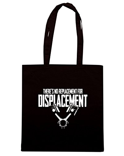 T-Shirtshock - Borsa Shopping TB0386 No Replacement For Displacement Muscle Car Nero