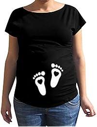 WEIMEITE Weihnachten Schwangerschaft T-Shirt Schwanger T Shirts Schwangerschaft Damen Shirt /Ärmelloses Weihnachten Baby Gedruckt Tank Tops Tshirt