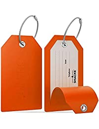 Shacke - Etiquetas Para Maletas Con Contracubierta De Privacidad Completa C/Presillas De Acero Shacke – Juego De 2
