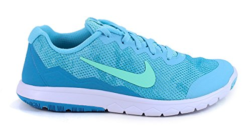 Nike Damen Flex Experience Run 4 Premium Hausschuhe Tide Pool Blue/Blue Lagoon/White/Green Glow