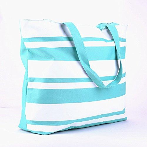 GUMO-Spiaggia sacchi, sacchetti di nylon, femmina sacchetti, sacchi di grandi dimensioni, singole borse a tracolla, borse, grande capacità, impermeabile,nero Blue