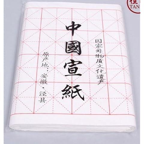 Chino Caligrafía Japonesa práctica Xuan papel de arroz, 100hojas