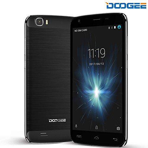 Smartphone Android, DOOGEE T6 Pro Dual SIM 4G 6250mAh Telefoni Cellulari - 5.5 Pollici FHD Sharp Schermo Telefonia Mobile con 3GB RAM + 32GB ROM - 5MP + 13MP Fotocamera - Nero