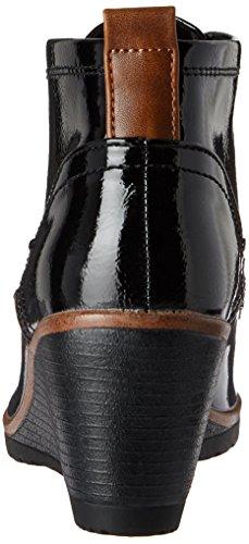Marco Tozzi 25121, Stivali Donna Nero (Black Pat.comb)