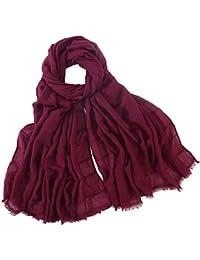 Coton lin châle automne hiver femmes dentelle gland rose floral foulard  creux dame wraps écharpes GreatestPAK a3090844635