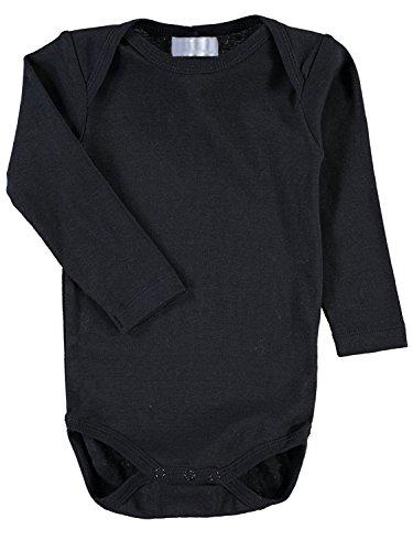 Baby Langarm Body einfarbig schwarz (74/80)