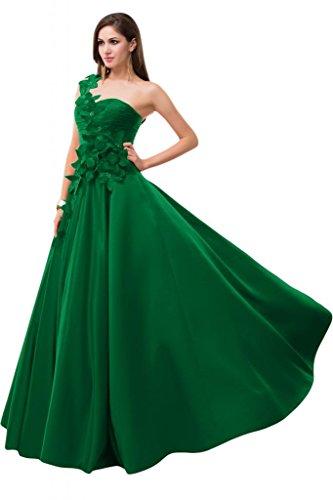 Sunvary uno Chiffon spalla elegante Bridesmaid Pageant, decorazioni varie Verde