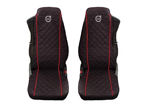 Preisvergleich Produktbild Unknow LKW Volvo FH12;FH16 / FH3 2 x LKW-Sitzbezüge Rote Beats / 1 für den Fahrer und 1 für den Beifahrersitz