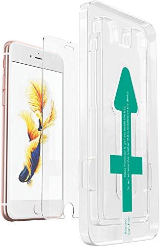 XeloTech Schutzfolie Folie kompatibel mit iPhone 7 Plus / 6s Plus/ 6 Plus mit Schablone für hohe Passgenauigkeit | Unterstützt 3D Touch