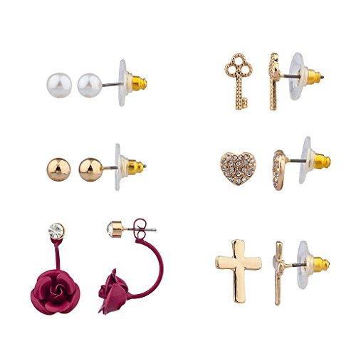 lux-accessoires-violet-fleur-rose-motif-floral-pave-cle-unlock-my-heart-croix-christ-multiples-ensem