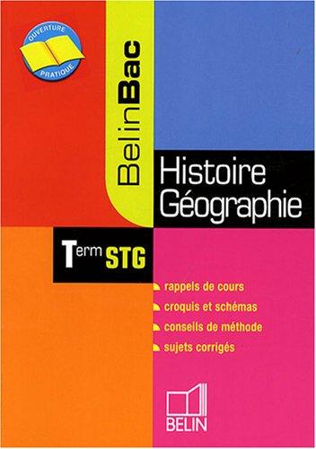 Histoire-Géographie Tle STG