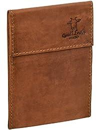 """Gusti Leder studio """"Rene"""" Funda de Cuero para Documentos Cheques Pasaporte Identificación Estuche de Viaje Cartera Cuaderno Estilo Vintage Retro Marrón 2A128-22-5"""