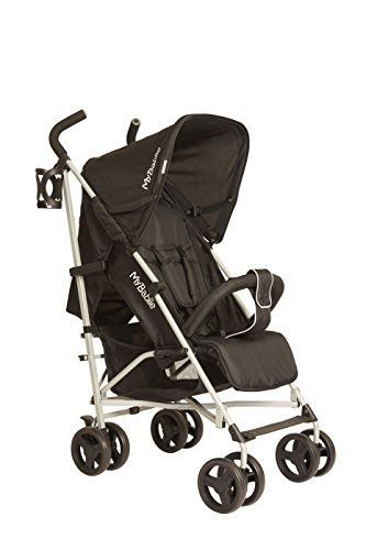 My Babiie Lightweight Stroller Pushchair (Black) Best Price and Cheapest