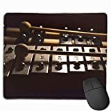 Mouse Pad Rectangle Rubber Non-Slip Mousepad Xylophone Print Gaming Mouse Pad