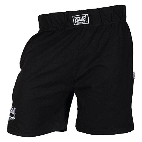 Everlast Herren Single Jersey Short Kurze Hose, Schwarz, M (Baumwoll-shorts Everlast)