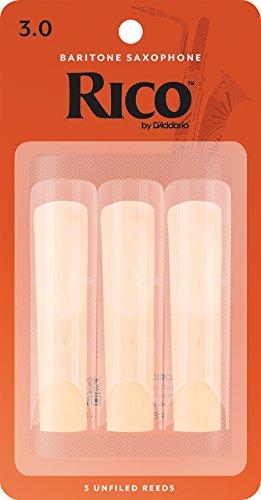 RICO Blätter für Baritonsaxophon Stärke 3.0 (3 Stück)
