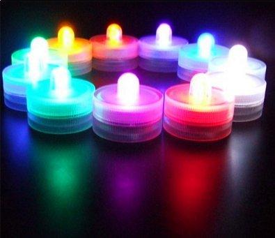 nkbare wasserdichte Unterwasser-Tee-Licht batteriebetriebene LED-Mini-Kerze-Lampen-Multicolor ()